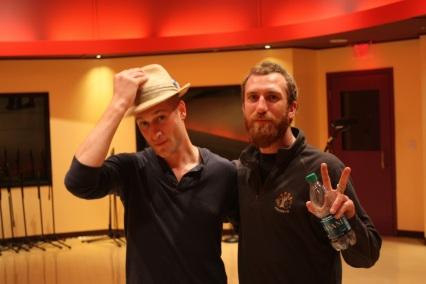 Luke and Matt in the studio